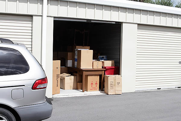 loading boxes into storage unit