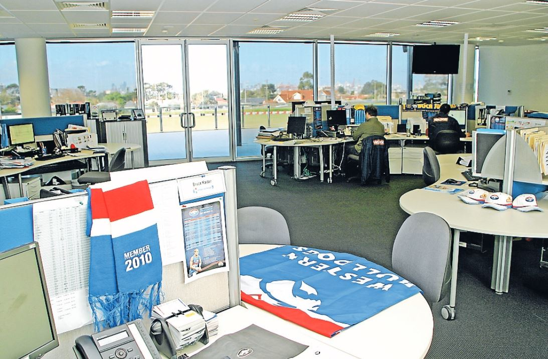 western bulldogs office fitout