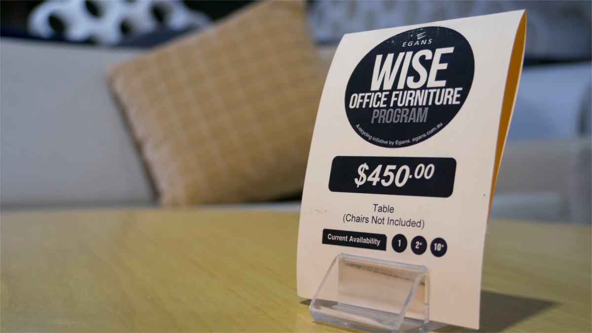 wise office furniture price tag