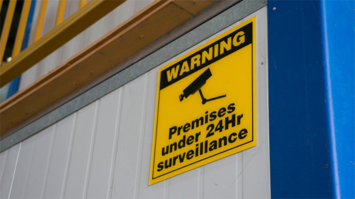 under surveilance sign