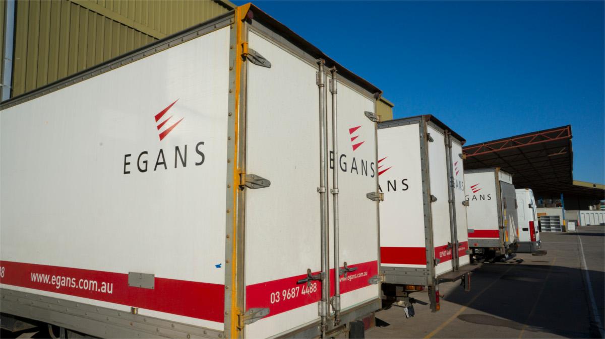 Egans moving trucks