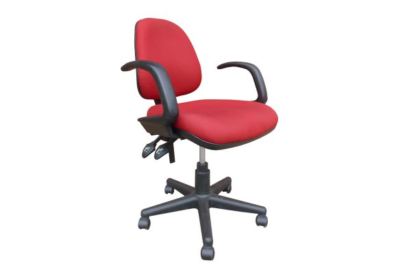 Red Clerical Chair with Arms