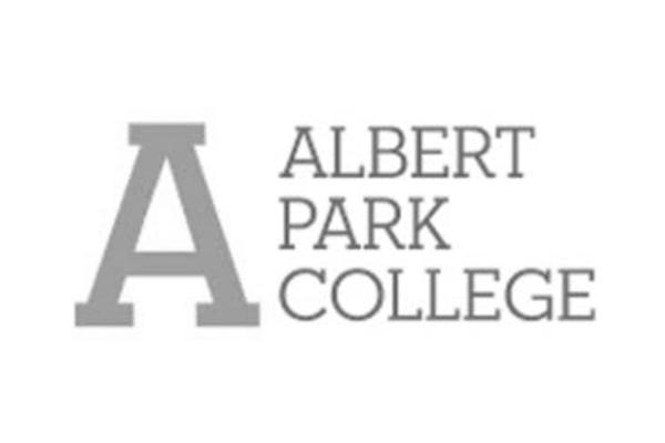 Albert Park Collge logo greyscale