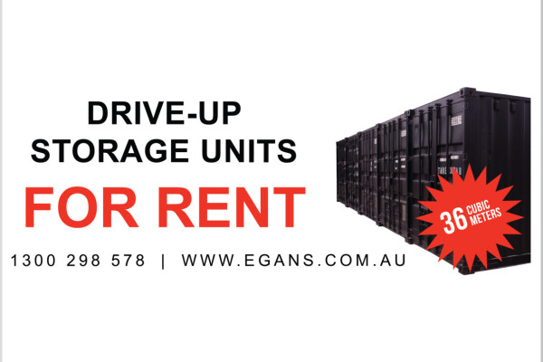 Drive Up Storage containers