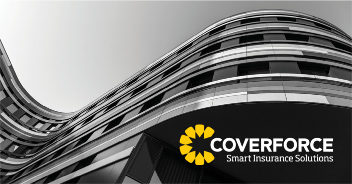 Coverforce building and logo