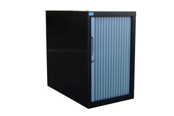 Black Tambour Cabinet
