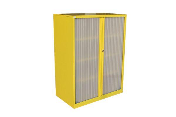 Yellow Tambour Cabinet