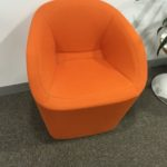 Green Moroso office lounge chair