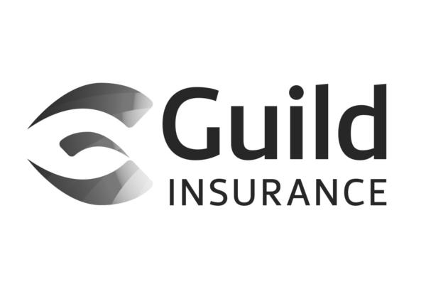 Guild Insurance logo desaturated