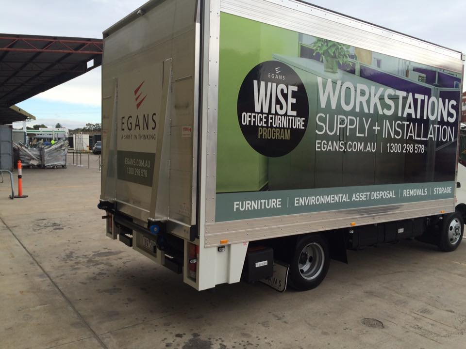 Egans workstation delivery truck