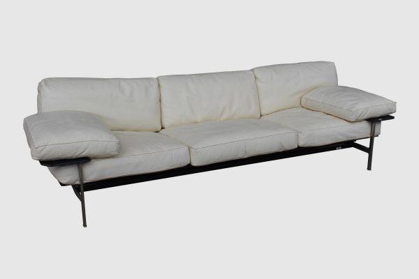 B&B Italia Diesis Leather Sofa by Antonio Citterio