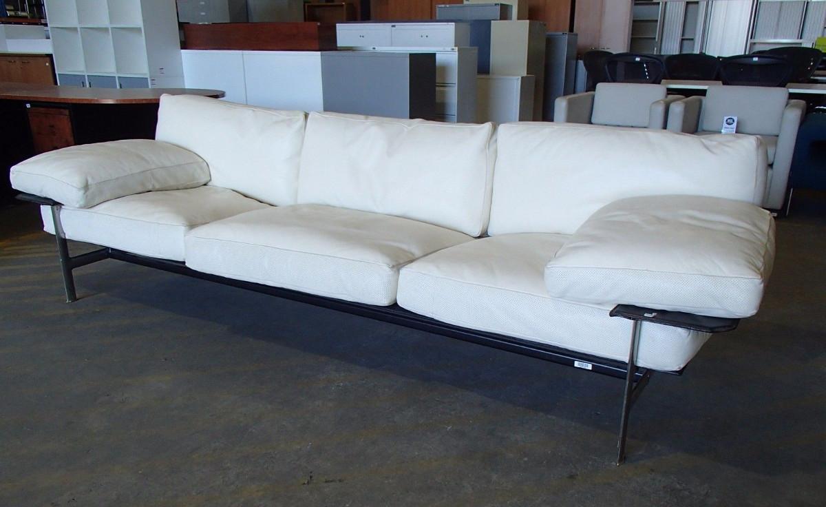 B&B Italia Diesis Three Seat Leather Sofa by Antonio Citterio