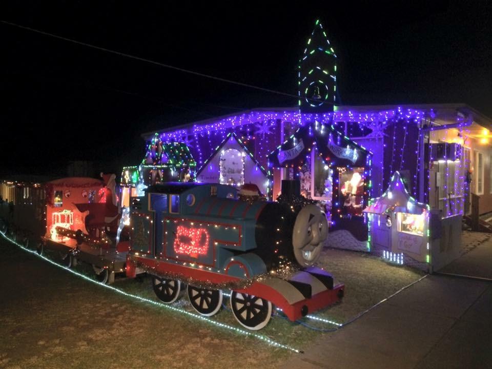 Thomas the Tank Engine Christmas lights