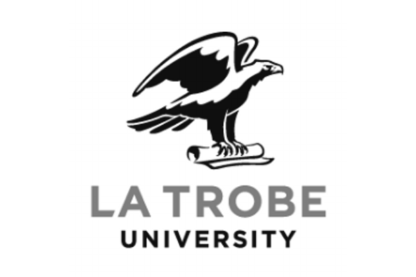 Latrobe University Logo grid desaturated