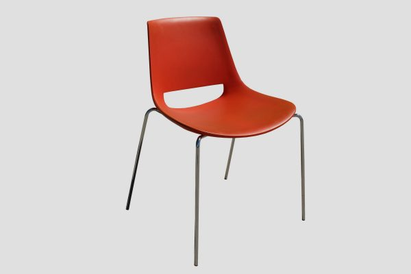 Arper Palm sled chair orange