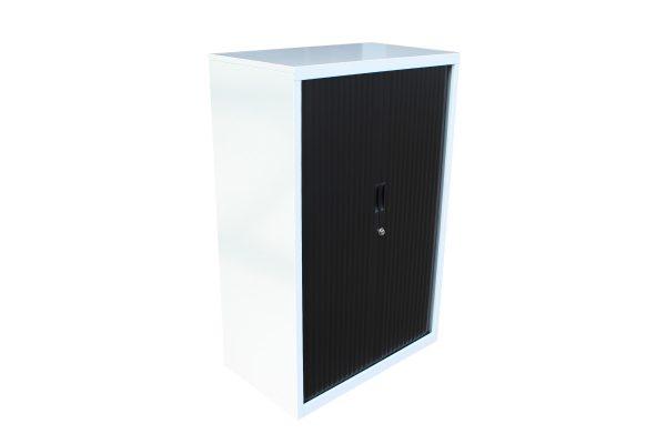 White Tambour Cabinet