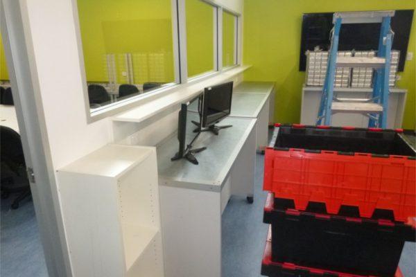 Egans crates in office