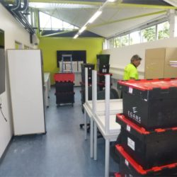 Egans crates in school