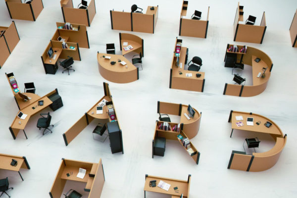 Google office cubicles