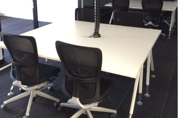 office desk with 4 chairs