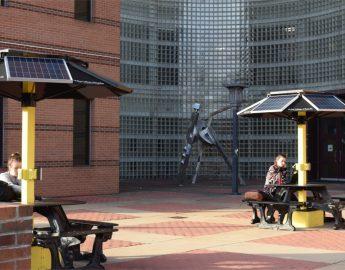solar picnic tables