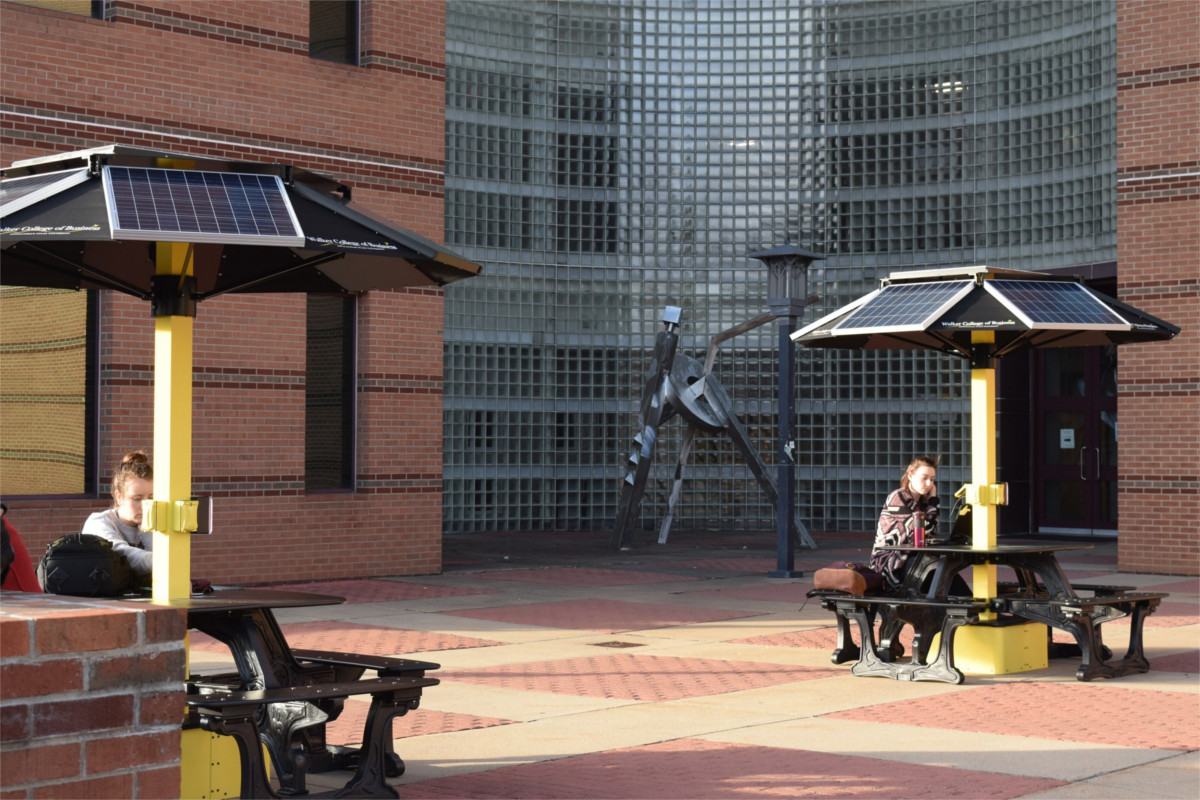 solar picnic tables