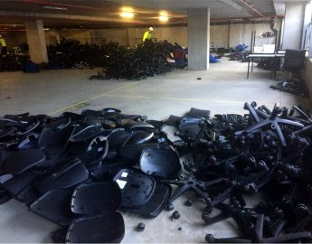 Recycling office chairs