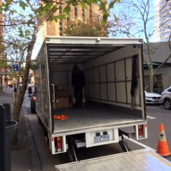 office relocation truck unload