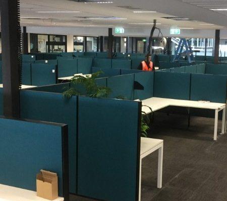 university office workstations