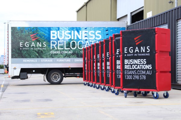business relocation truck with equipment