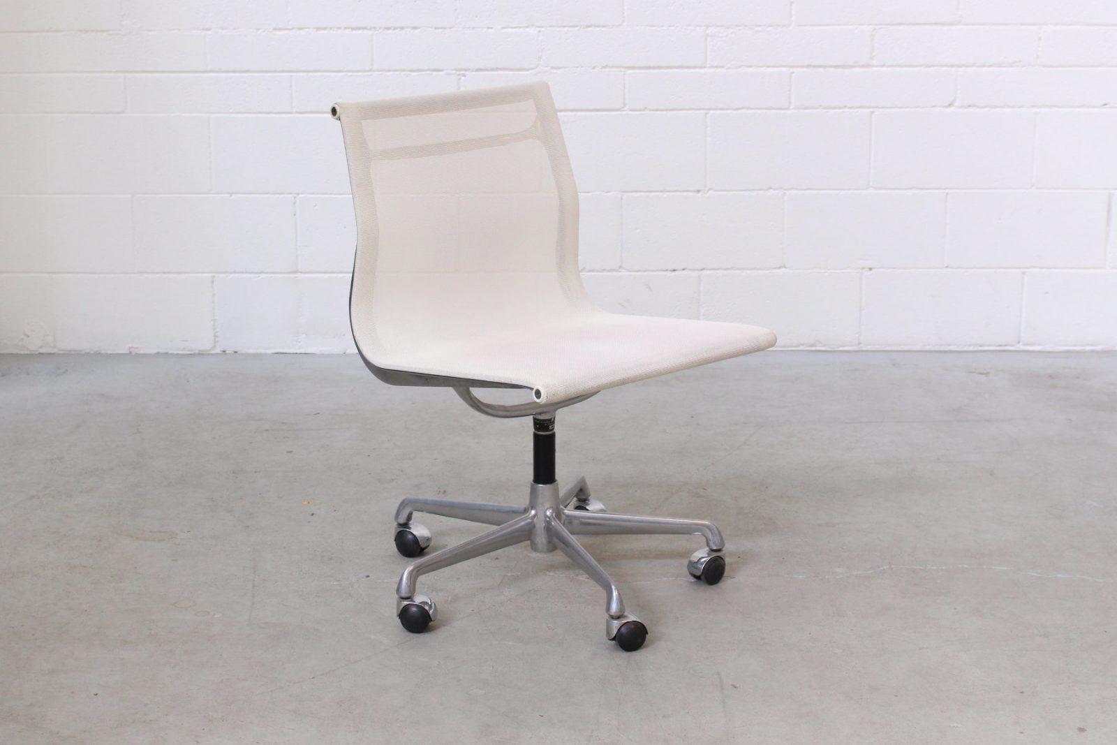 Eames Aluminium Side Chair White Mesh ICF1