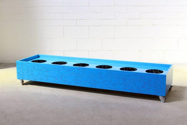 Flox Freestanding Planterbox Large Blue Planex