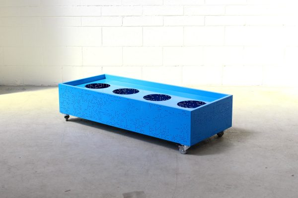 Flox Freestanding Planterbox Medium Blue Planex