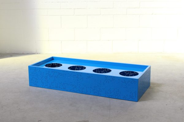 Flox Freestanding Planterbox Medium Blue Planex no castors