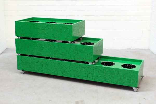 Flox Freestanding Planterbox Green Planex combined