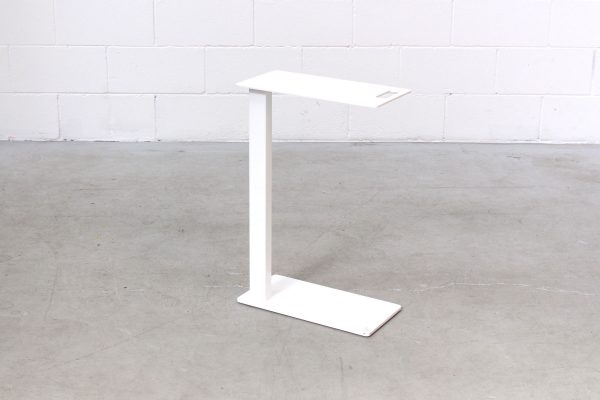 Side Table Slide Unter White Metal