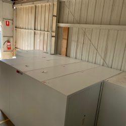 Tambour cabinet move