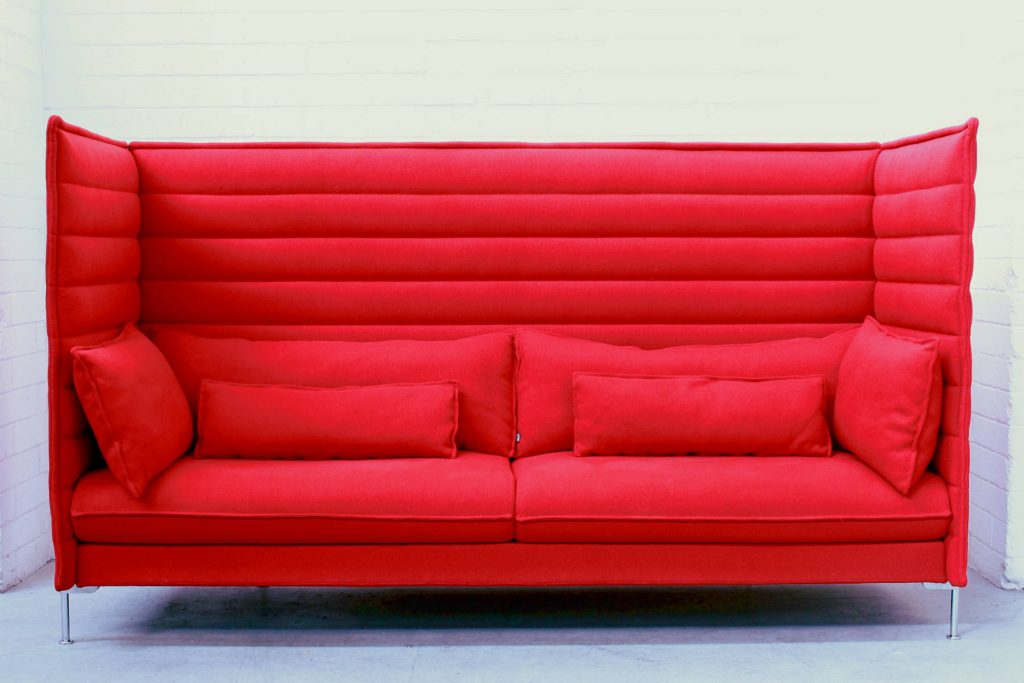 Alcove 3 Seater Vitra red1