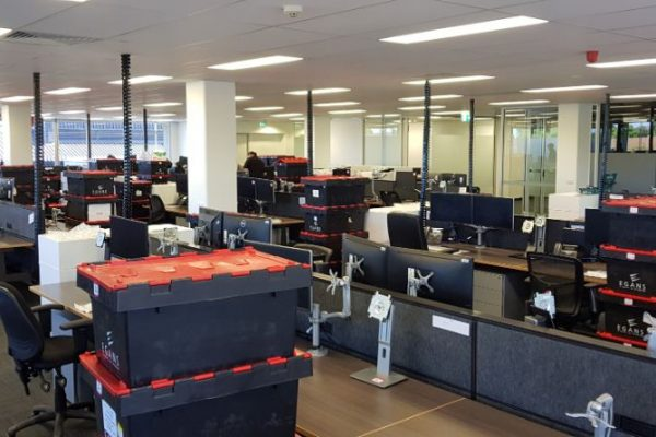 office moving crates