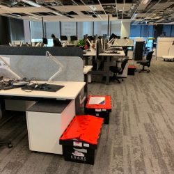 Moving office computers