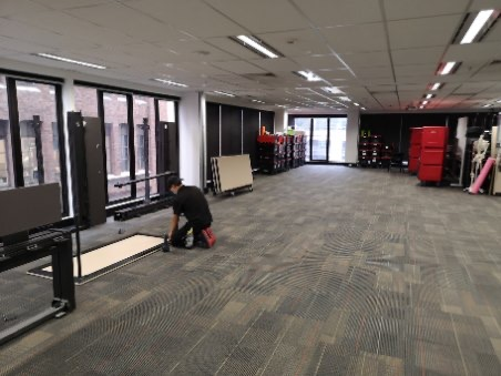 multi-level internal office relocation
