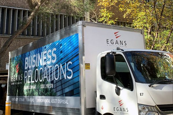 Egans office relocation truck