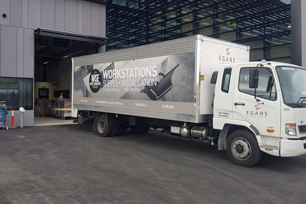 Office relocation truck