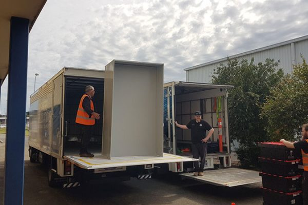 loading business removals truck