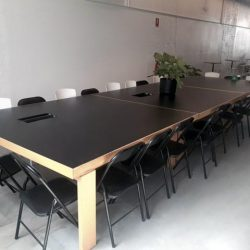 meeting room table and chairs